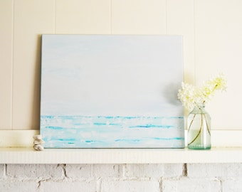 Abstract Painting, Ocean Seascape, Large Sea Painting, Ocean Wave OOAK Art