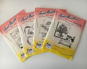Set of 4 -Vintage Hot Iron Transfers by Aunt Martha's UNCUT- Embroidery, Needlepoint, Handpainting Patterns