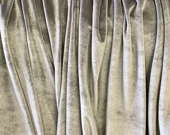 4-Way Stretch Velvet Fabric - Silver