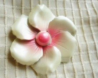 Ombre Enamel vintage Flower Brooch-Enamel Flower pin