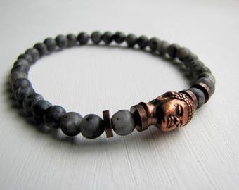 Men's Bracelet Buddha Bracelet Men's Stretch Bracelet Yoga Bracelet Healing Jewelry Men's Gemstone Bracelet Mens Gift for Him Boho Bracelet