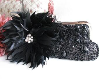 Black Wedding Clutches, Bridal, Bridesmaids Clutch, Prom Clutch, Evening Clutch, Formal Clutch, Party Clutches, Accessories, Satin Clutch