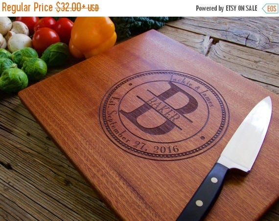 Spring Sale - Personalized Cutting Board, Engraved Cutting Board, Personalized Wedding Gift, Housewarming Gift, Anniversary Gift