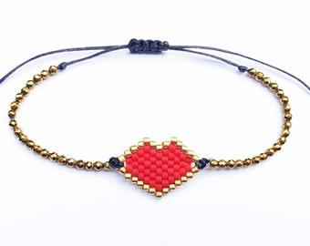 The miyuki heart bracelet - Free Shipping