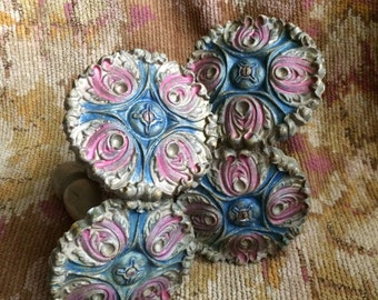 Nothing But Serious Love For These Large Antique Shabby Chic Curtain Tiebacks