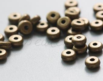 100 pcs / Spacer / Dount / Antique Brass / Base Metal  (Y12971//D178)
