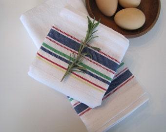 Farmhouse  Kitchen Towel, Farmhouse, Vintage Kitchen, Tea  Towel, Farmhouse Towel, Multi Stripe Kitchen Towel