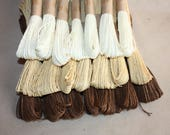20 bundles of brown color of Paper Twines for weddings, crafting, gift wrapping, packaging - christmas decorations