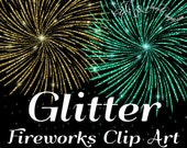Fireworks Clip Art, Glitter Fireworks clip art, glitter clipart, clip overlays, digital clip art, Digital Scrapbook, INSTANT DOWNLOAD