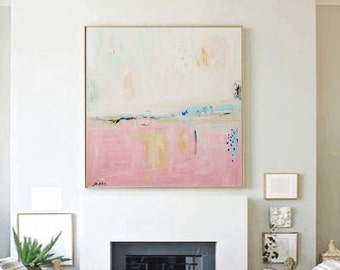 rosa painting ,original painting,, abstract painting,,  painting ,,wall art  from jolina anthony
