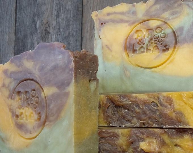 Kali's Conundrum Soap - Patchouli Orange Peppermint Soap -- All Natural Soap, Handmade Soap, Hot Process Soap, Vegan Soap