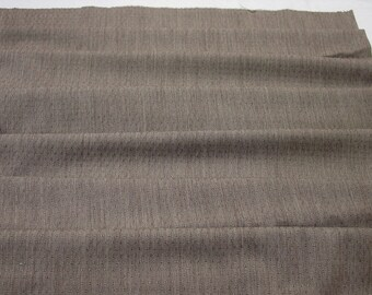 "Vintage Fabric, Fabulous Wool Suiting, Brown c. 1960's 58"" Wide, 2 yards 15"""