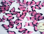 48 small pink edible butterflies, 1/2- 3/4