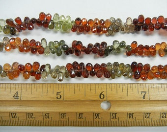 5x3mm faceted teardrop briolette tundra sapphire beads 1 strand (GSS-20)