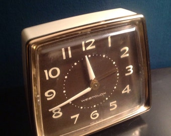 Newer Vintage Westclox Manual Alarm Clock