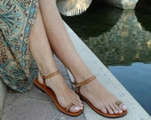 10% off Lovely and Delicate Toe  Ring Ankle Strap With Design Barefoot Sandals - Dream With Pattern