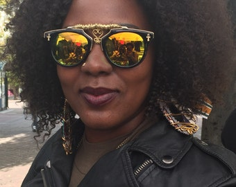 Sankofa Adinkra Ankh Sunglasses African symbol charms