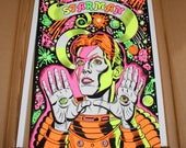 SPACEMAN David Bowie Psychedelic Dayglow Limited Edition Screenprint!