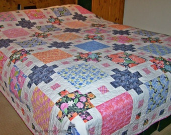 Quilts For Sale, Handmade Quilt, Queen Quilt, Patchwork Quilt, Castle Dreams Quilt, Bed Quilt, Honey Honey, Kate Spain, Busy Hands Quilts