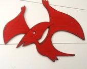 Pterodactyl Nursery Dino Sign Flying Dinosaur Decor Kids Bathroom Wall Art Bedroom Decor