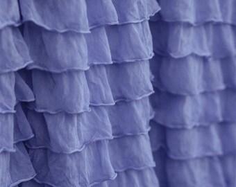 Periwinkle 2 Inch Ruffle Fabric