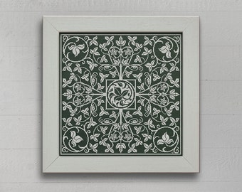 The Ivy Green - Cross Stitch Pattern - Instant Download PDF Cross Stitch Embroidery Pattern