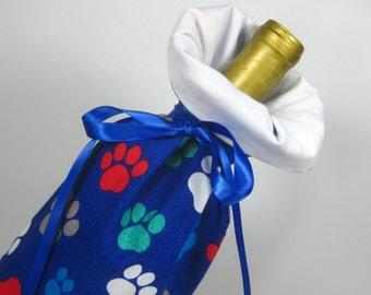 Cute Pet Paws, Class Wrap Wine Gift Bag