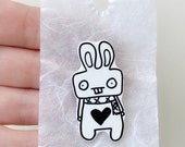 Bunny Rabbit Shrink Plastic Pin