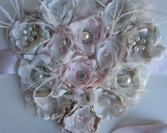 Maternity sash heart, Belly sash, Blush and ivory sash belt, Baby shower sash, Blush Bridal Belt, Blush Maternity Sash, Floral Bridal Belt