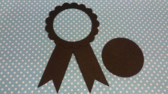 Award Ribbon  Die Cut 10CT- Die Cut- Cutout- Custom Colors Available