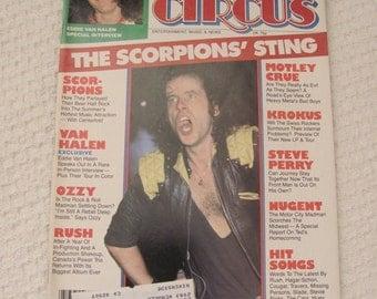 Vintage Circus Magazine July 1984 - Scorpions Centerfold