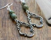 Turquoise earrings dangle earrings southwestern jewelry south west earrings unique gift for her songbird cabin designs