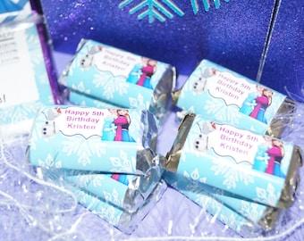 Princess Hershey's Miniatures, Elle frozen favors, Frozen party theme, Anna theme Party favors, candy buffet , Set of 100