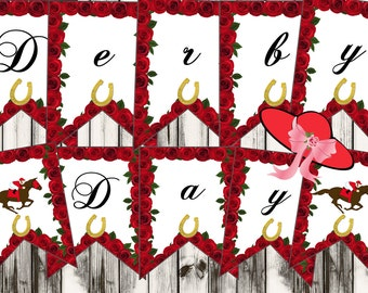 Derby Day Banner, Derby party banner, Derby party favors, Kentucky Derby banners.