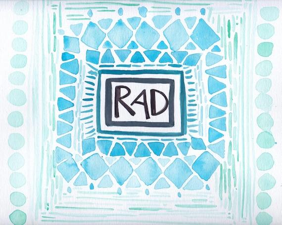 11x14 Matted Print RAD! SALE!