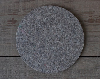 Round Felt Pad / Trivet - 6 inches - 100% Merino Wool  - 5mm Thick - German-milled - Rich, Lightfast Colors - Eco-Friendly - Natural
