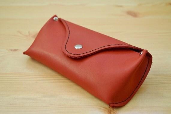 Glasses case,leather cover,sunglasses case,glasses cover,leather case,red leather case,red glasses case,mens glasses case,red case
