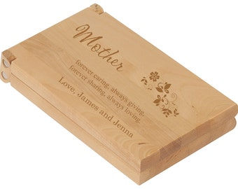 Custom Mother's Day Mancala Board Game Gift Set - Folding Personalized Mancala Board, Birthday Gift, Family Gift, Game for Mom and Daughter