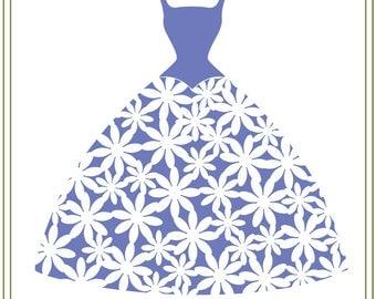 Wedding svg, Flower Gown SVG, Wedding illustration download, DIY weddings, printable, vinyl cutting, iron on transfer, signs
