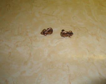 vintage screw back earrings copper drama happy sad face