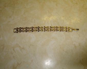 vintage bracelet goldtone chain