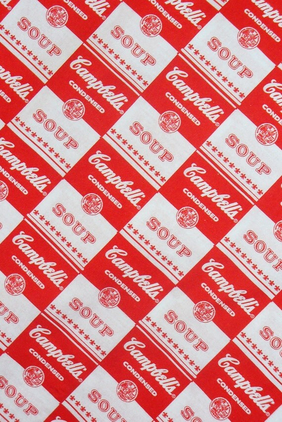 Campbell Soup Can Labels, Campbell Labels, Soup Labels,  Cotton Fabric, By the Yard, Springs Creative
