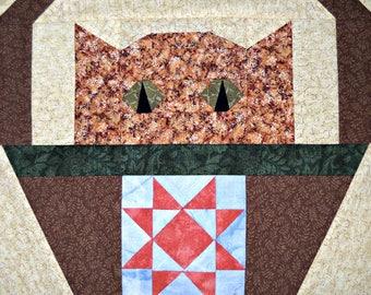 Star Cat Quilt Block Pattern