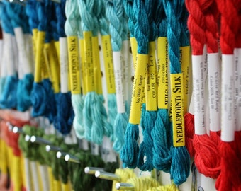 Pick A Color Silk Embroidery Floss by Needlepoint Inc. NPI at thecottageneedle.com 5-meter 8-ply skein cross stitch needlepoint thread