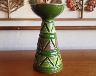 Mid Century Italian Pottery Candle Holder