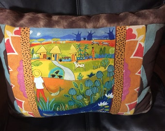 Ethnic - Tribal - African Themed Quilted Pillow