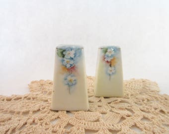 Antique Salt and Pepper Set Noritake Nippon China Hand Painted