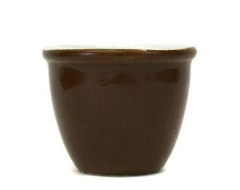 Vintage Large Brown Hall Custard Dish (E3282)
