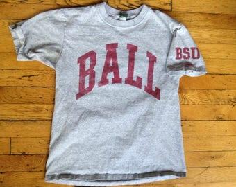 Vintage BSU Ball State University t shirt medium