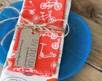 Retro Cars Placemat and Retro Bikes Napkin Set for Kids